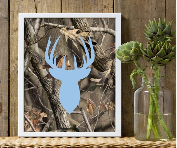 Camo Nursery Wall Decor : Boys nursery decor baby blue deer wall camo
