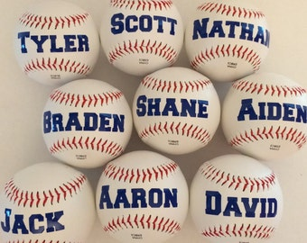 Personalized Baseballs! Fun Party Favor for Baseball Theme Party! Fun Gift for Baseball Players and Fans! Great Team Gift for End of Season!