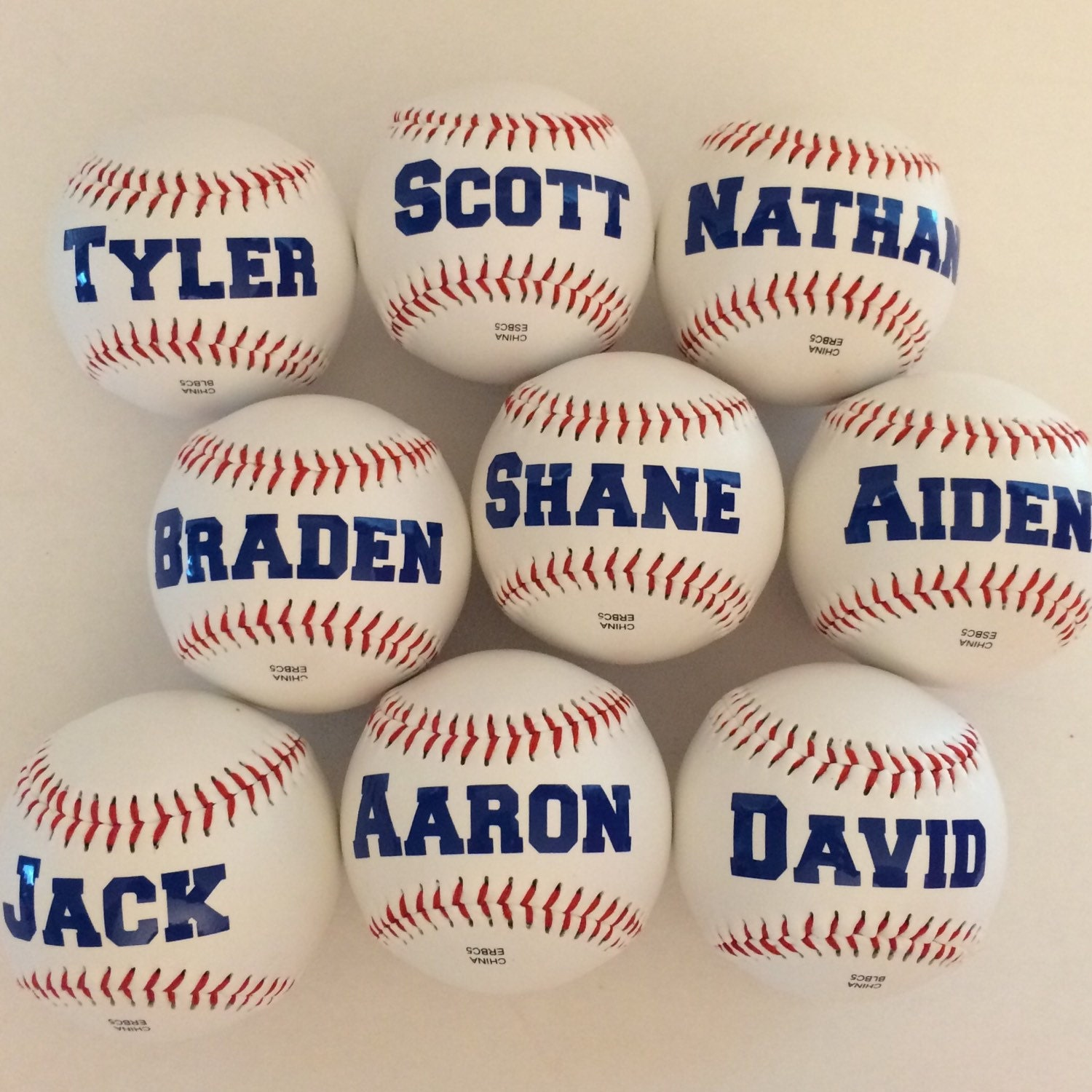 Personalized Baseballs Fun Party Favor for Baseball Theme