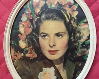 Ingrid Bergman Framed Picture/Portrait ~ Hollywood Golden Era ~ Classic Movie Star