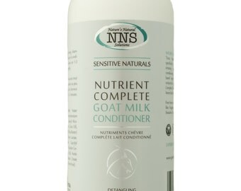 Natural Goat Milk Hair Conditioner, Free from Nuts, Gluten, Fragrance and Silicone. Natural Beauty Products