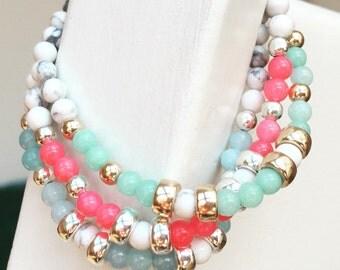 Beautiful semi-precious stacking bracelet