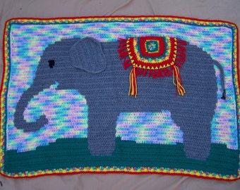 Elephant Crochet Pattern, Elephant Blanket Pattern, Elephant Baby Blanket