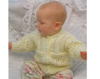 baby / childrens cardigan dk knitting pattern 99p pdf