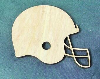 Football Helmet Cutout ~ Laser Cut 1/4 inch Birch Wooden Modern Style Football Helmet ~