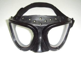 vintage black rubber googles gas mask steampunk batman goggles pilot goggles fetish mask halloween goggles