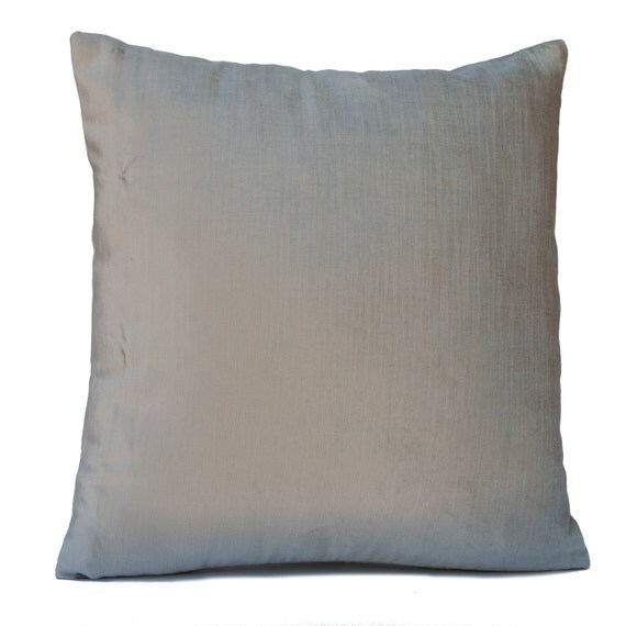 Light Warm Grey Silver Pillow Throw Pillow Cover Decorative