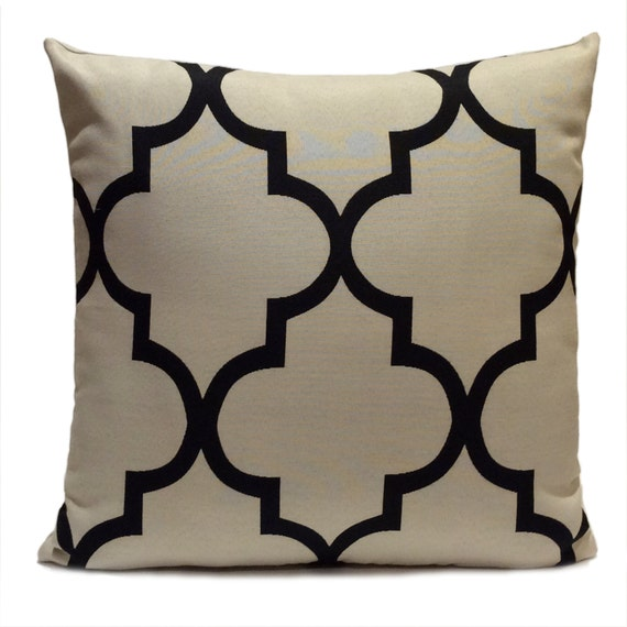 Black And Beige Throw Pillows : Black and Grayish Beige Pillow Throw Pillow Cover Decorative