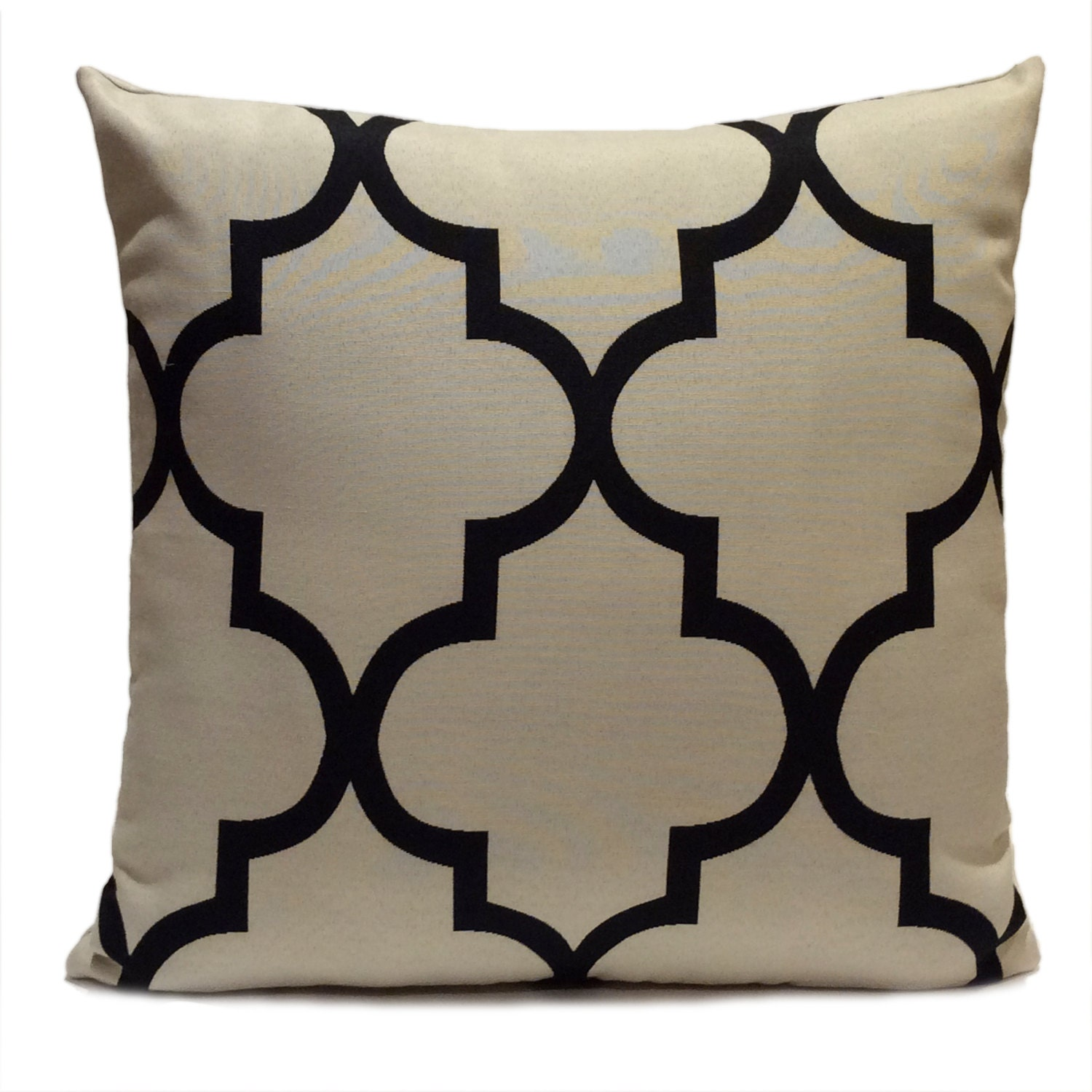 Black And Beige Decorative Pillows : Black and Grayish Beige Pillow Throw Pillow Cover Decorative