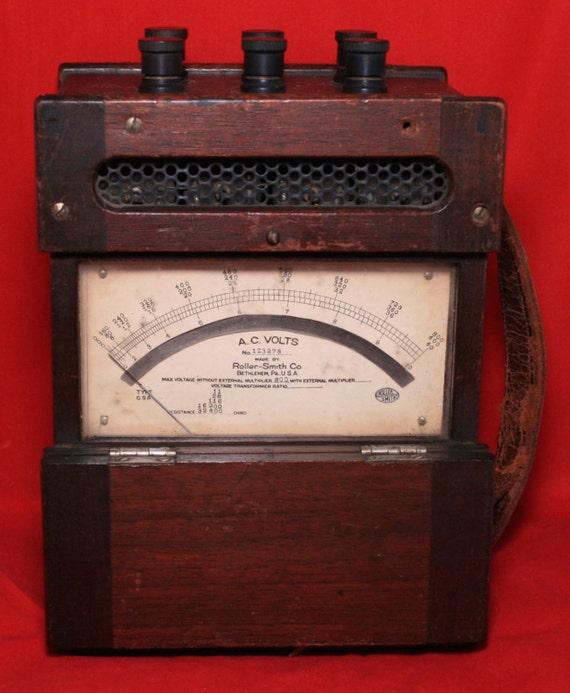 Antique Volt Meter : Antique roller smith ac voltmeter volts no in