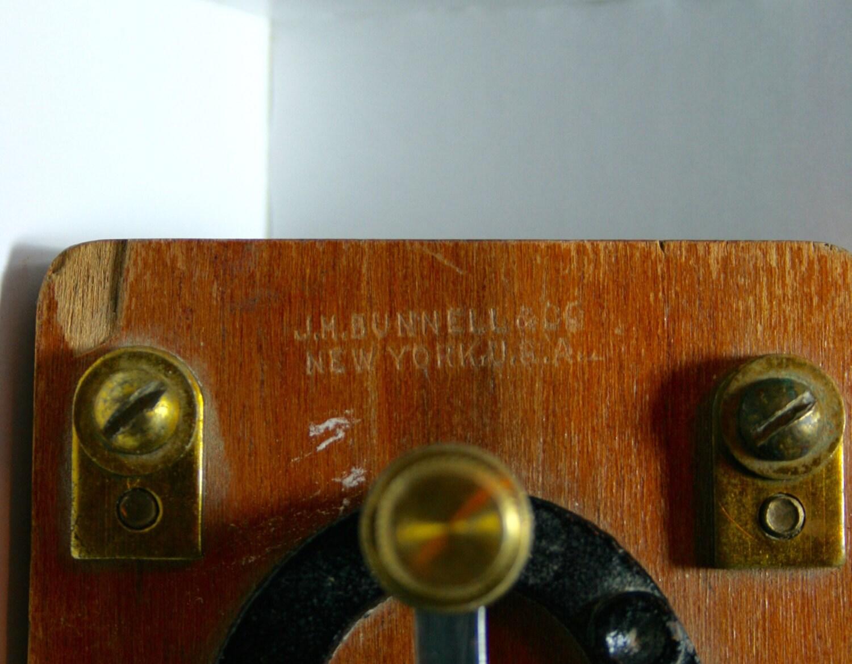 Antique J H Bunnell Telegraph Key