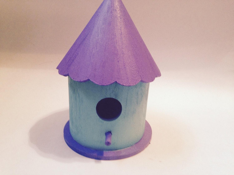 Bird House Birdhouse Whimsical Bird House by EndOfTheRainbowPots