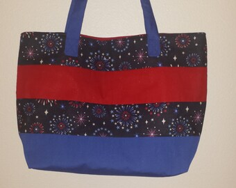 Fireworks/4th of July Tote Bag