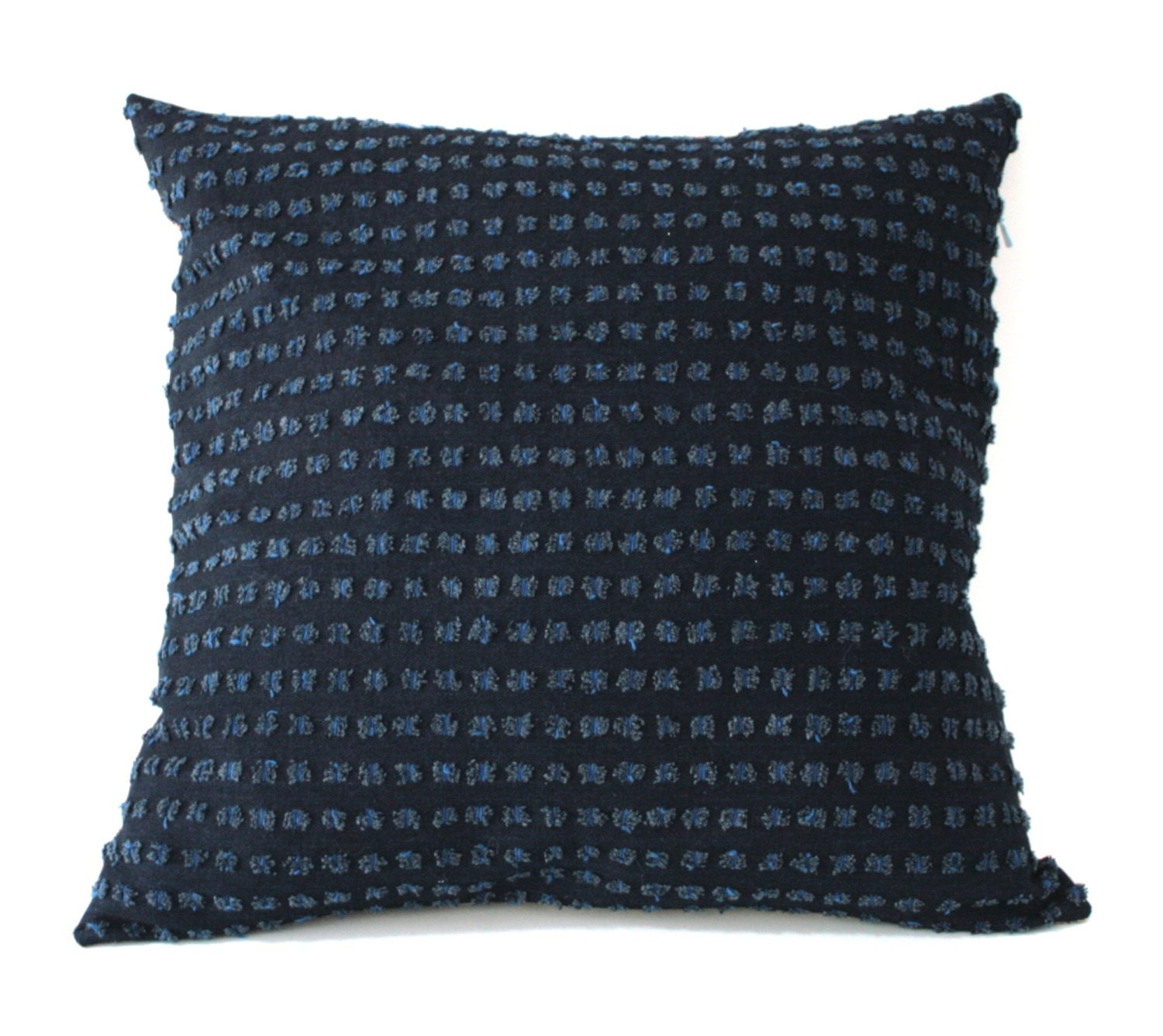 Textured blue pillow cover designer fabric throw pillow blue - Fabric for throw pillows ...