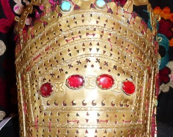 Crown, Wedding Crown from Turkmenistan, Teke Tribe, Central Asia, Diadem, Crown, Tribal Style Dance