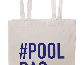 Hashtag Pool Bag Tote Bag, Pool Bag Tote Bag, Tote Bag, Natural Color, Eco Friendly, Pool Bag, Lake Bag, Beach Bag, Hashtag, Totes