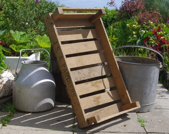Vintage Chitting Tray, Ideal for Storage Indoors and Outdoors, Crate, Apples, Pears, Rustic, Display, Wooden