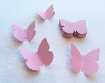"""25 Musk Pink Butterfly Punches, Die Cuts - 1.6"""""""