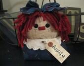 Raggedy Ann Shelf Sitter - Raggedy Ann Doll - Raggedy Ann