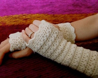 Crochet fingerless gloves pattern pdf star stitch, wrist warmer, crochet mittens pattern