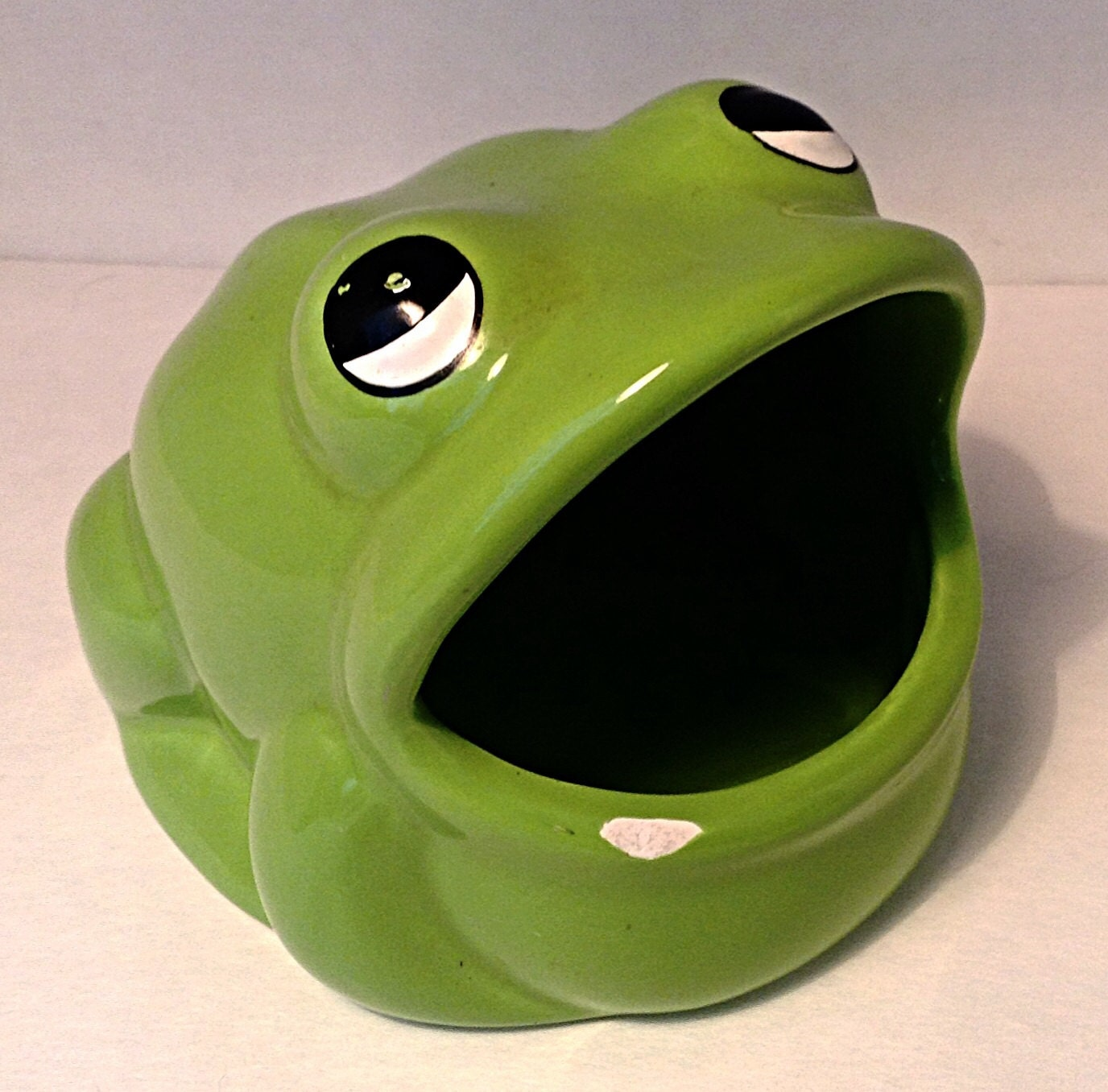 Vintage green frog sponge holder by daniscuriouscorner on etsy - Frog sponge holder kitchen sink ...