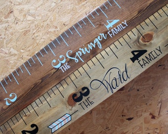 Hand Painted Wooden Growth Chart Ruler