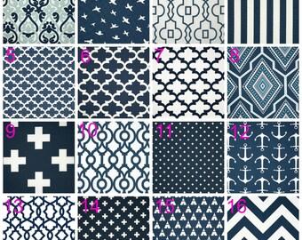 Premier Navy Blue Accent Pillow Covers, Premier Prints, Decorative Throw Pillow Cushions, Any Size, 16x16, 18x18, 20x20, 24x24, 26x26
