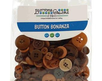 Natural 1/2 Pound Button Bonanza Sewing Buttons ~ BB-36