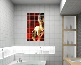 "Tile decals motif ""Buddha"""