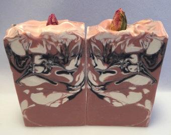 Jack of Hearts Vegan Soap / Organic Soap / Bergamot Rosewood and Sweet Orange / Essential Oil Soap / Cold Process Soap