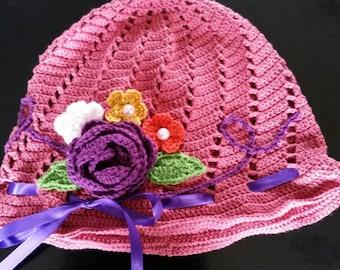 Cute little girl's Panama hat