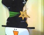 Country Snowman Door Hanger  CIJ Christmas in July Sale