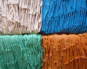 Decorative Fish Net - Assorted Color-Blue Fish Net-Orange Fish Net-Green Fish Net-White Fish Net-Decorative Fish Netting-Fishing Net-Netting