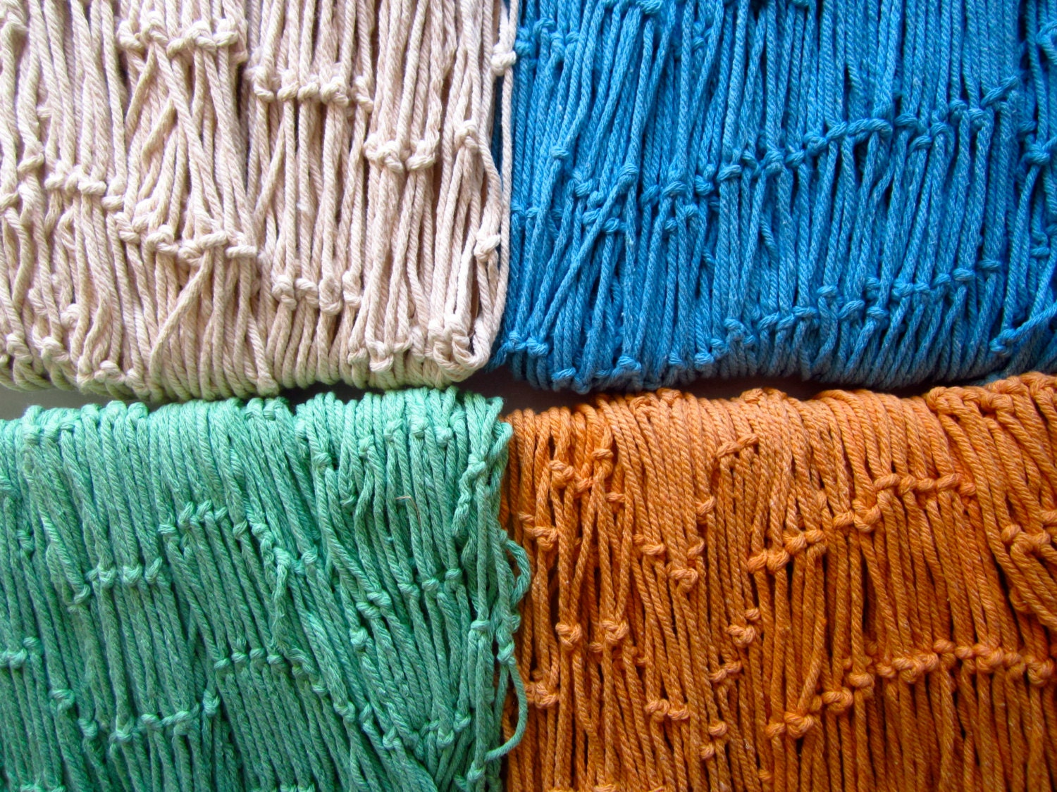 decorative fish net assorted color blue fish net orange fish