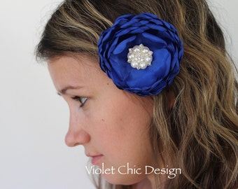 royal blue hair clip royal blue flower girl hair clip royal blue bow flower girl bow royal blue bridesmaid hair piece royal Christmas bows
