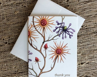 Inca Botanical Thank You  Notecards