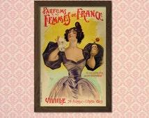 Perfume Advertising Print 1898 - Vintage Fashion Arts Fashion Illustration Vintage Perfume Fashion Wall Art Feminine Poster BUY 3 GET 1 FREE