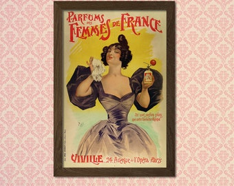 Perfume Advertising Print 1898 - Vintage Fashion Arts Fashion Illustration Vintage Perfume Fashion Feminine Poster   Reproduction