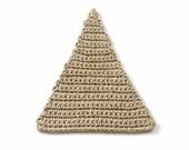 Custom order for Chrissa.  Set of 6 crochet linen triangles.