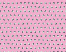 Pink Polka Dot Fabric - Pearls of Wisdom in Sky - Elizabeth Fabric - Light Pink and Grey Fabric by the Half  Yard