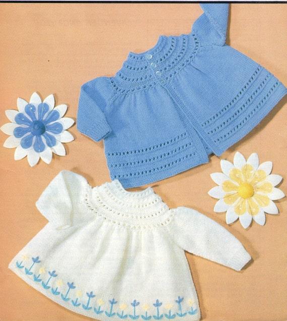 Angel Dress Knitting Pattern : Knit Angel Top Vintage Pattern baby dress knitting pullover