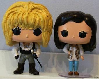 Labyrinth Jareth and Sarah Custom Funko Pop pair