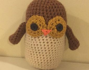 Mama owl amigurumi, crocheted owl, stuffed owl, owl amigurumi