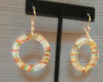 glass hoop earrings