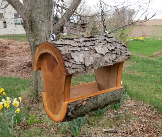 items similar to log bird feeder seed feeder fly