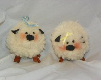 Lamb Cotton Christmas Ornament