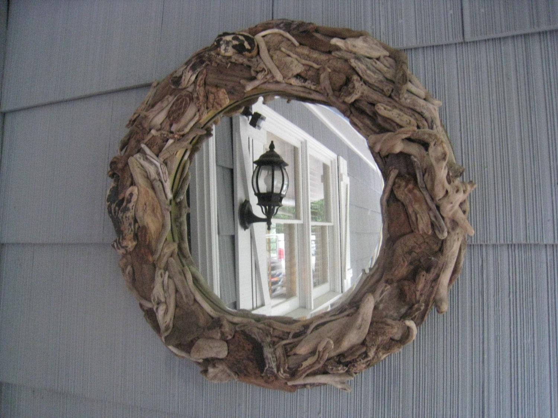 Driftwood Mirror Handmade Beach Decor OOAK Mirror Home Decor