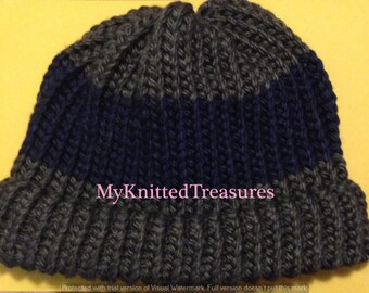 Loom Knitted Adult Hat Pattern