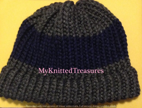 Loom Knitted Adult Hat Pattern by MyKnittedTreasures on Etsy