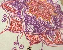 Henna Mendhi Indian Zentangle Design